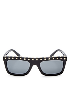 Valentino - Women's Embellished Rectangle Sunglasses, 51mm