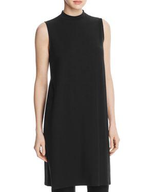 Eileen Fisher Mock Neck Long Tunic - 100% Exclusive