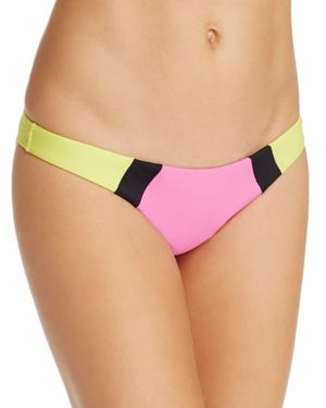 PilyQ Color-Block Full Coverage Bikini Bottom