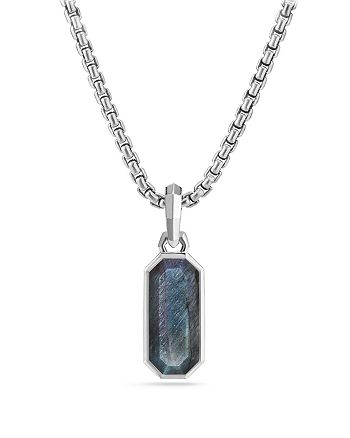 David Yurman - Emerald Cut Amulet with Labradorite