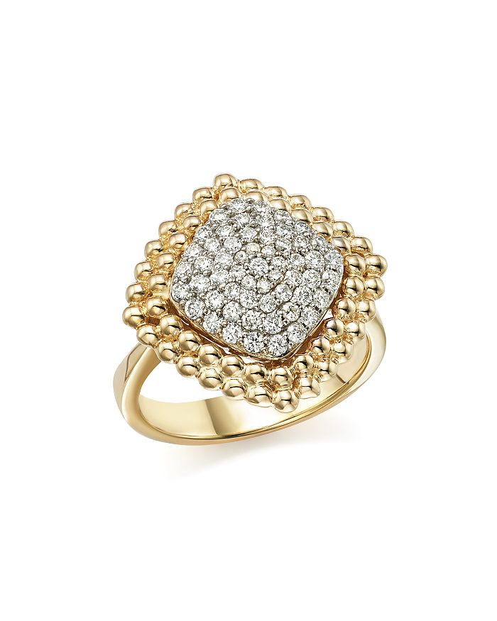 Bloomingdale's - Diamond Pavé Square Statement Ring in 14K White and Yellow Gold, .65 ct. t.w. - 100% Exclusive