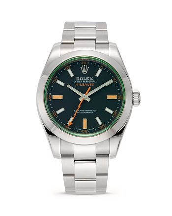 Pre-Owned Rolex - Stainless Steel Milgauss Watch with Oyster Band, 40mm