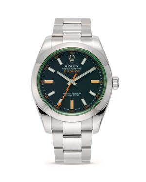 Pre-Owned Rolex Stainless Steel Milgauss Watch with Oyster Band, 40mm