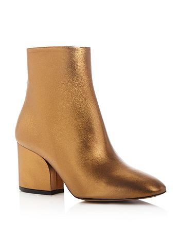 Salvatore Ferragamo - Women's Metallic Leather Booties