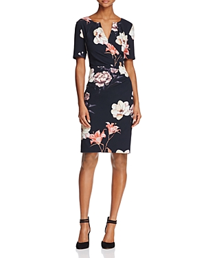 Adrianna Papell Floral-Print Dress
