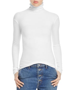 Vince Rib-Knit Turtleneck Top