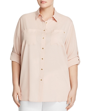 Calvin Klein Plus Roll Sleeve Tunic Top