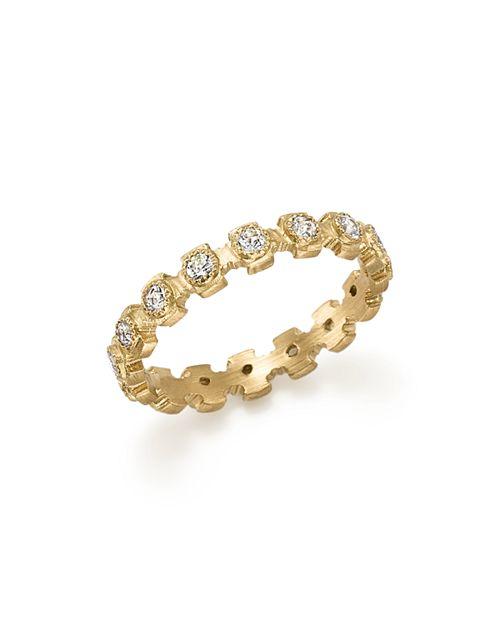 Armenta - 18K Yellow Gold Sueno Diamond Stacking Ring