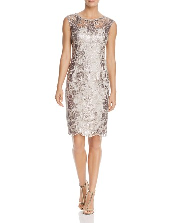 $Adrianna Papell Embellished Lace Dress - Bloomingdale's