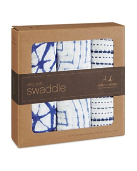 Aden and Anais - Indigo Shibori Silky Soft Swaddles, 3 Pack