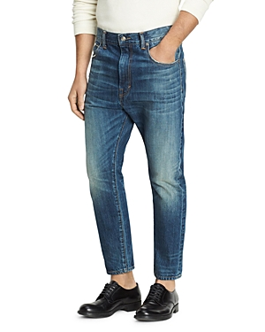 Vince Cropped Selvage Oversized Fit Jeans