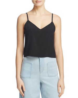 Alice + Olivia Lauren V-Neck Silk Tank