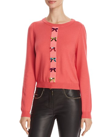 $Boutique Moschino Bow-Embellished Merino Sweater - Bloomingdale's