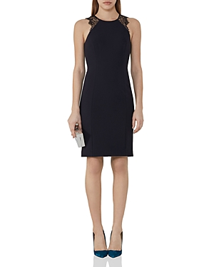Reiss Saturn Lace-Trimmed Dress