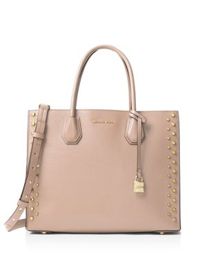 Michael Michael Kors Studio Mercer Stud Convertible Large Leather Tote
