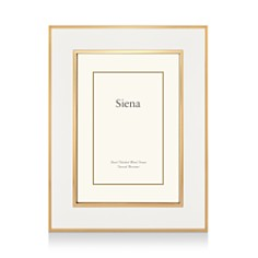 "Siena White Enamel with Gold Frame, 4"" x 6"" - Bloomingdale's_0"