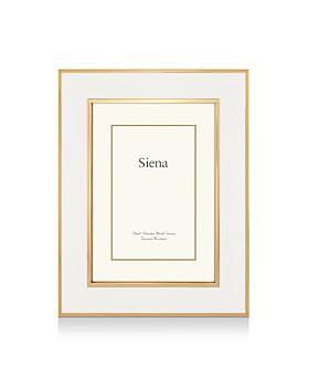 """Siena - White Enamel with Gold Frame, 4"""" x 6"""""""