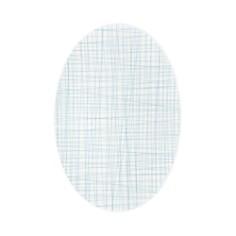 Rosenthal - Mesh Lines Aqua Oval Platter, Large
