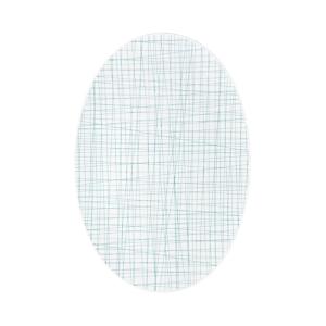 Rosenthal Mesh Lines Aqua Oval Platter, Large