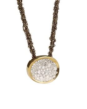 "Antonini - 18K Yellow Gold Matera Silvermist Diamond Pendant Necklace, 16"""