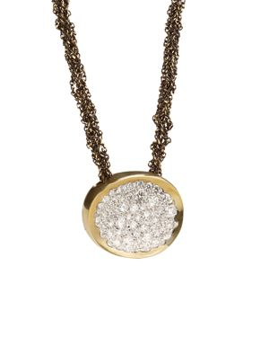 Antonini 18K Yellow Gold Matera Silvermist Diamond Pendant Necklace, 16