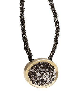 "Antonini - 18K White Gold Matera Black Diamond Pendant Necklace, 16"""