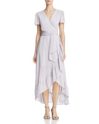$WAYF Ruffle Short-Sleeve Wrap Dress - 100% Exclusive - Bloomingdale's