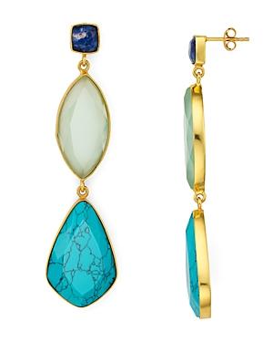 Argento Vivo Multi-Stone Drop Earrings