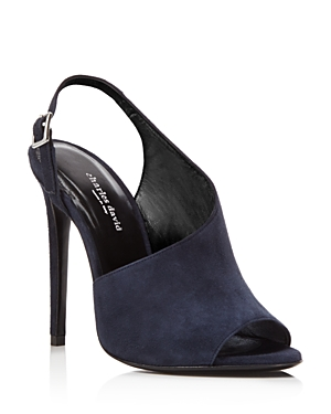 Charles David Divina Suede High Heel Slingback Sandals