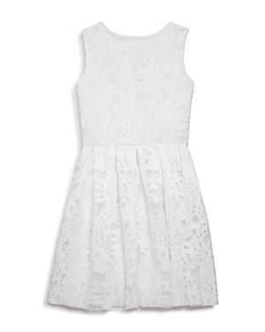 Aqua Girls' Embroidered Lace Dress, Big Kid - 100% Exclusive