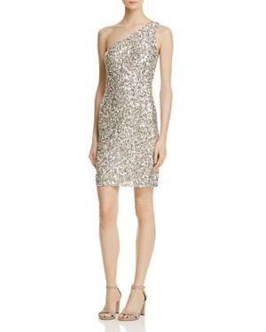 Parker Sabrina Embellished One-Shoulder Dress