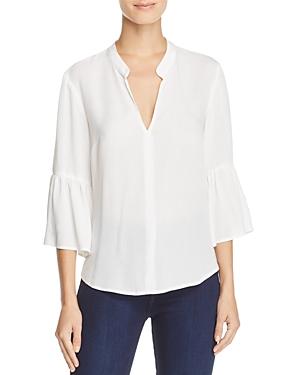 Splendid Solid Flare-Sleeve Shirt