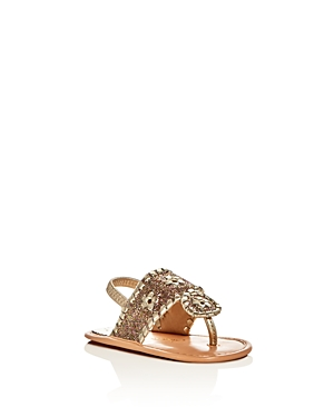 Jack Rogers Girls Baby Jacks Leather Glitter Slingback Sandals  Baby