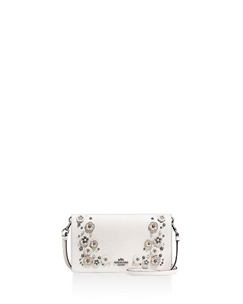 c6905c617 COACH - Foldover Crossbody Clutch in Polished Pebble Leather with Willow  Floral