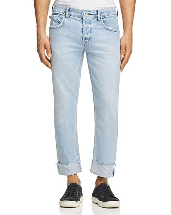 Hudson - Cropped Straight Fit Jeans