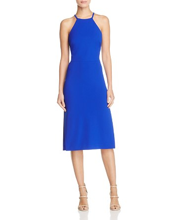 $Betsey Johnson Lace-Up Back Halter Dress - Bloomingdale's