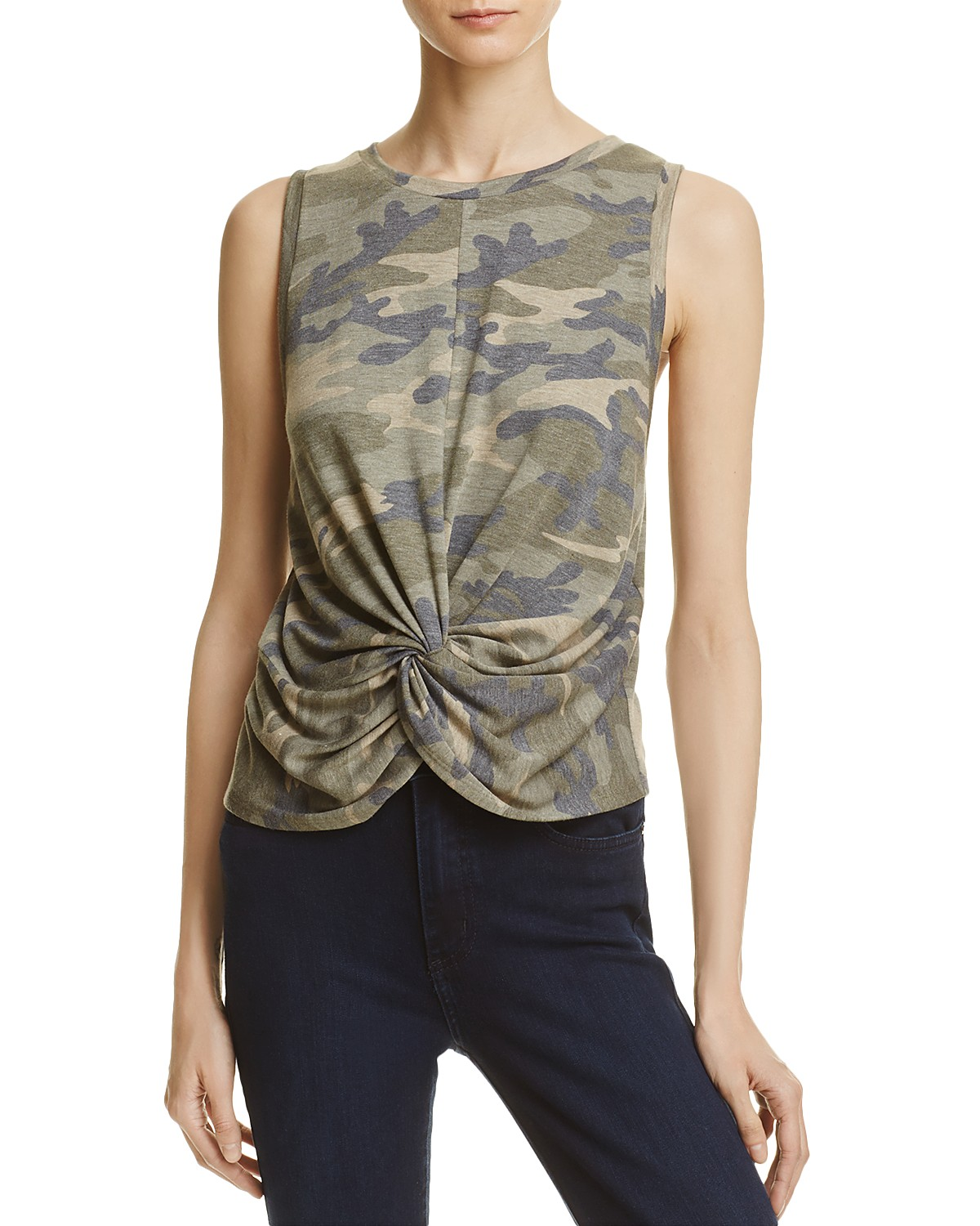 Aqua Camouflage Twisted-Front Tank - 100% Exclusive Buy Cheap Best Place Discount Visit Sneakernews MORY6