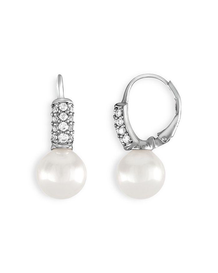 Majorica - Simulated Pearl Drop Leverback Earrings