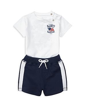 Ralph Lauren Childrenswear Boys Americana Tee  Shorts Set  Baby