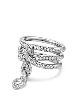 David Yurman - Continuance Drop Ring with Diamonds in 18K Gold