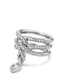 David Yurman - Continuance Drop Ring with Diamonds in 18K Gold