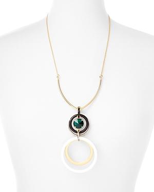 Marni Circles Acrylic & Strass Pendant Necklace, 24