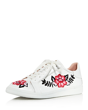 kate spade new york Everhart Floral Embroidered Low Top Sneakers