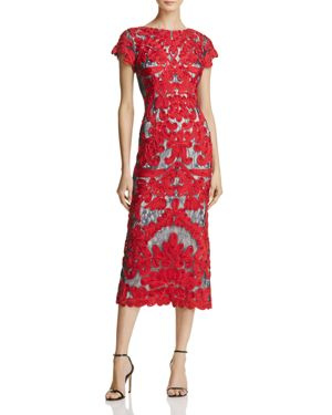 Js Collections Mixed Lace Midi Dress