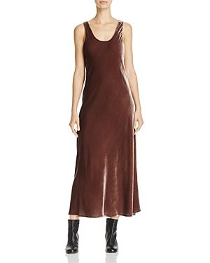 Vince Velvet Midi Slip Dress