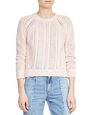 Maje Margarita Open Knit Sweater