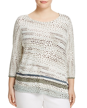 Nic and Zoe Plus Savannah Abstract Print Top