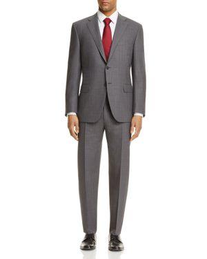 Canali Impeccabile Tonal Grid Classic Fit Travel Suit