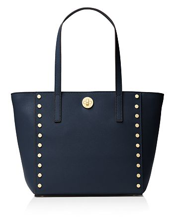 92d60ad9e919 MICHAEL Michael Kors Rivington Stud Medium Leather Tote | Bloomingdale's