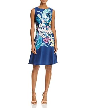 Adrianna Papell Sleeveless Hothouse Flower Print Dress